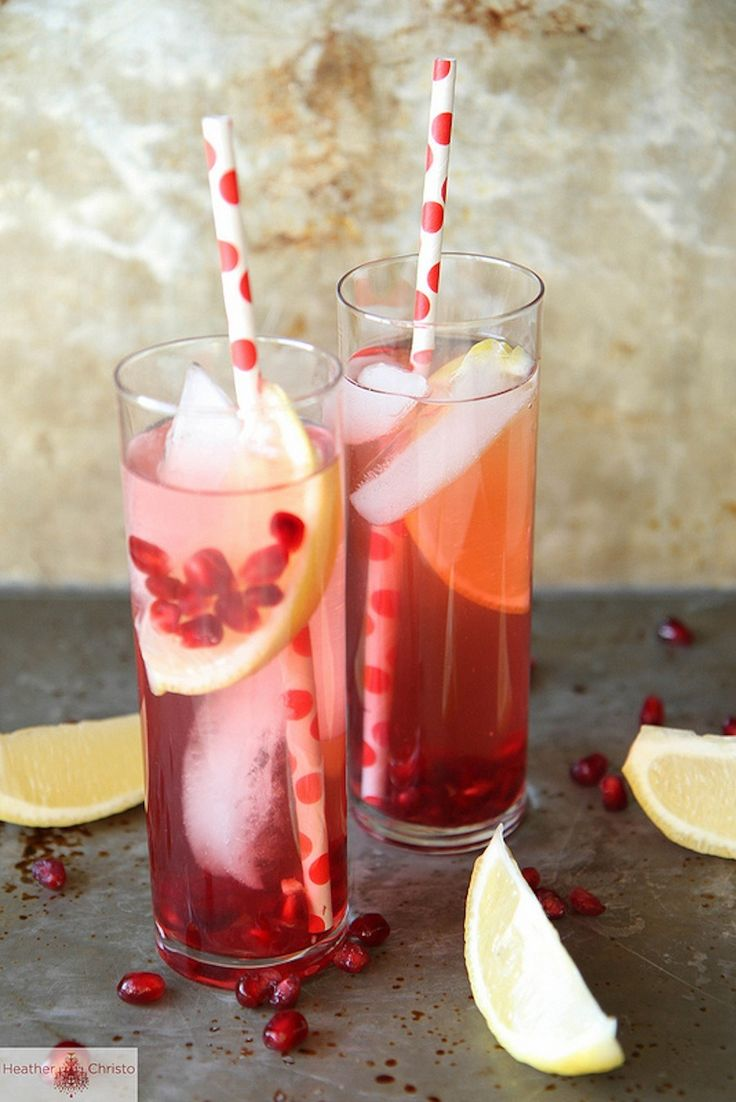 Spiked Pomegranate Lemonade #recipe