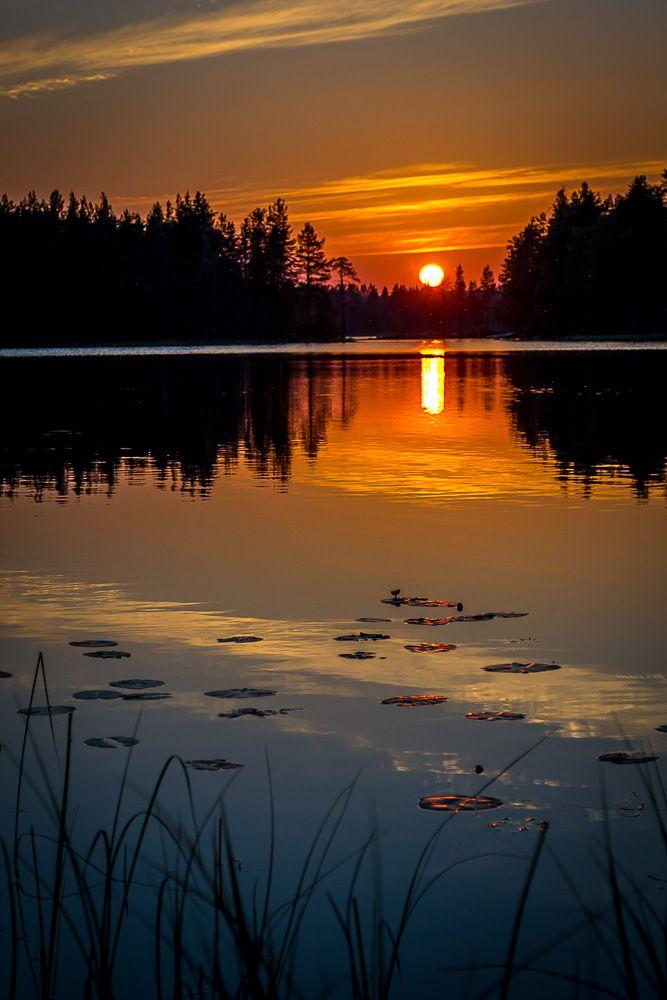 Sunset in Kuusamo, Finland