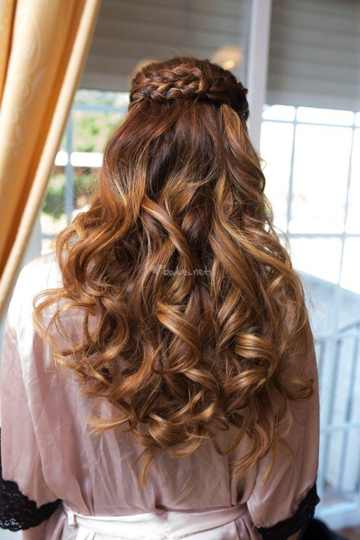 17 best images about peinados y maquillajes de novia on - Peinados de fiesta cabello largo ...