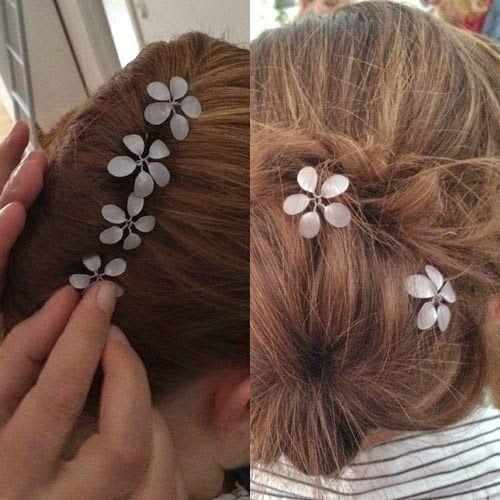 Runge form: Blommor av nagellack och ståltråd - DIY