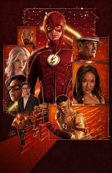 Joe West, Killer Frost, Vibe, Harrison Wells/Harry/H.R, Kid Flash, Iris West, Jay Garrick, and the Flash❤