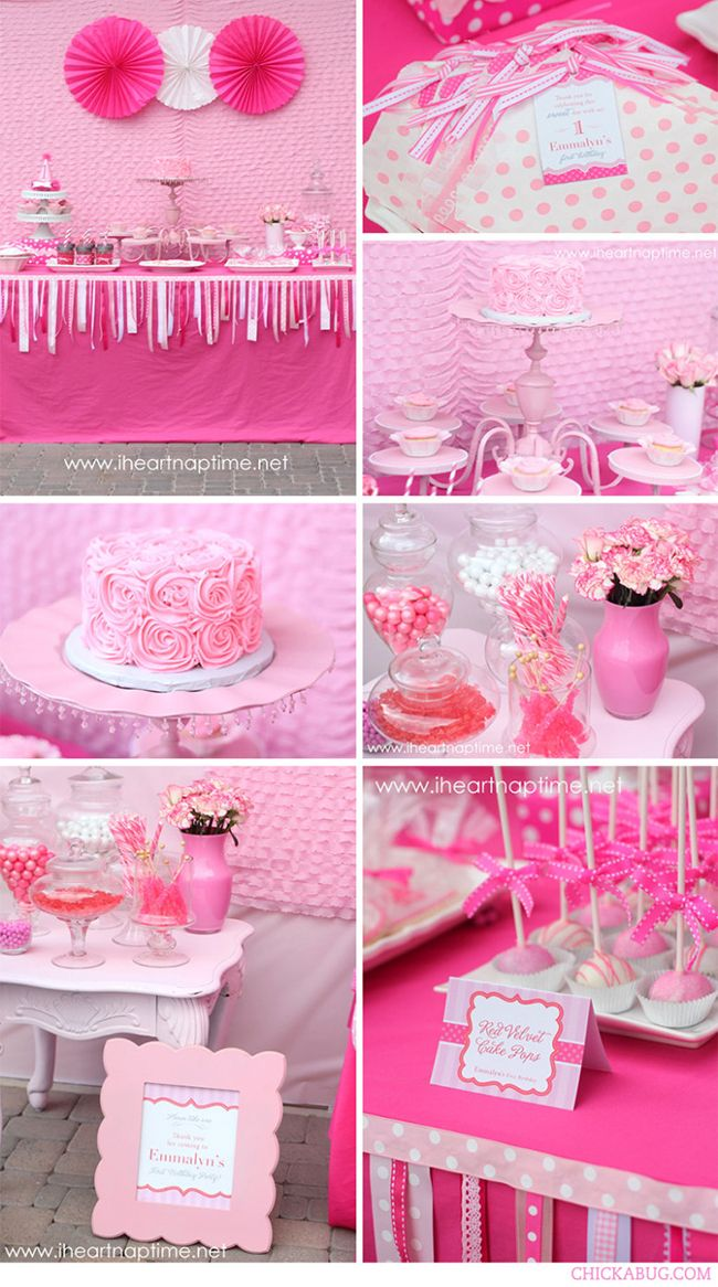 """Pretty in Pink"" birthday party printables collection from Chickabug.com #birthdayparty #printables #chickabug"