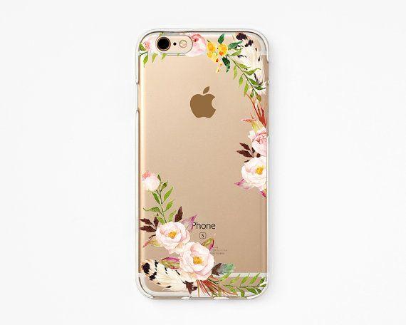 iPhone Rubber Case - Rose Cloud - iPhone 6s case, iPhone 6 case, iPhone 6+ case - Clear Flexible Rubber TPU case J19