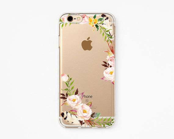 iPhone Rubber Case - Rose Cloud - iPhone 6s case, iPhone 6 case, iPhone 6+ case - Clear Flexible Rubber TPU case J19