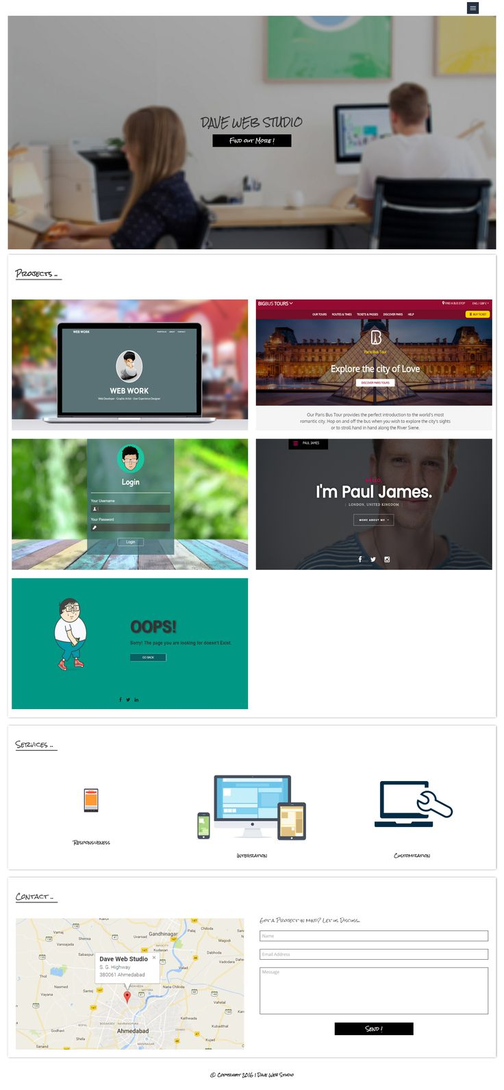 Dave Web Studio has an Portfolio for Website Development and Web Designing.