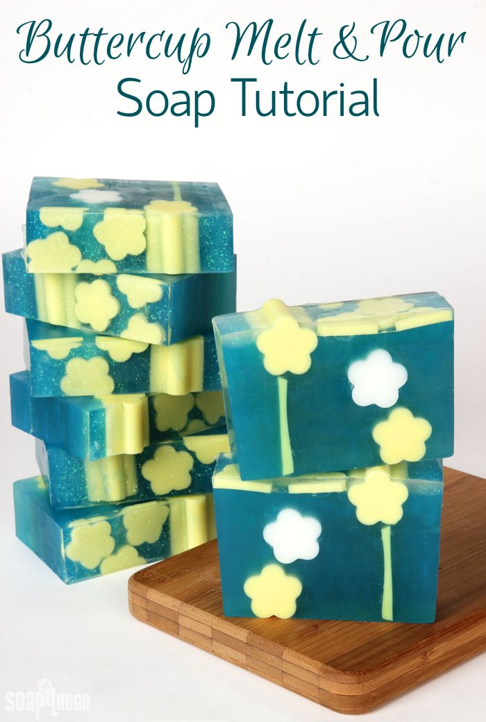 Buttercup Melt & Pour Soap DIY /// Learn how to create these adorable bars of soap!