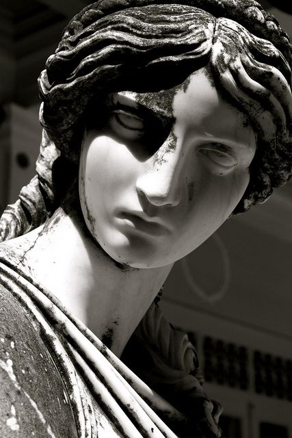 Greek Sculpture on the Terrace of Achilleion Palace 2 by runintherain, via Flickr