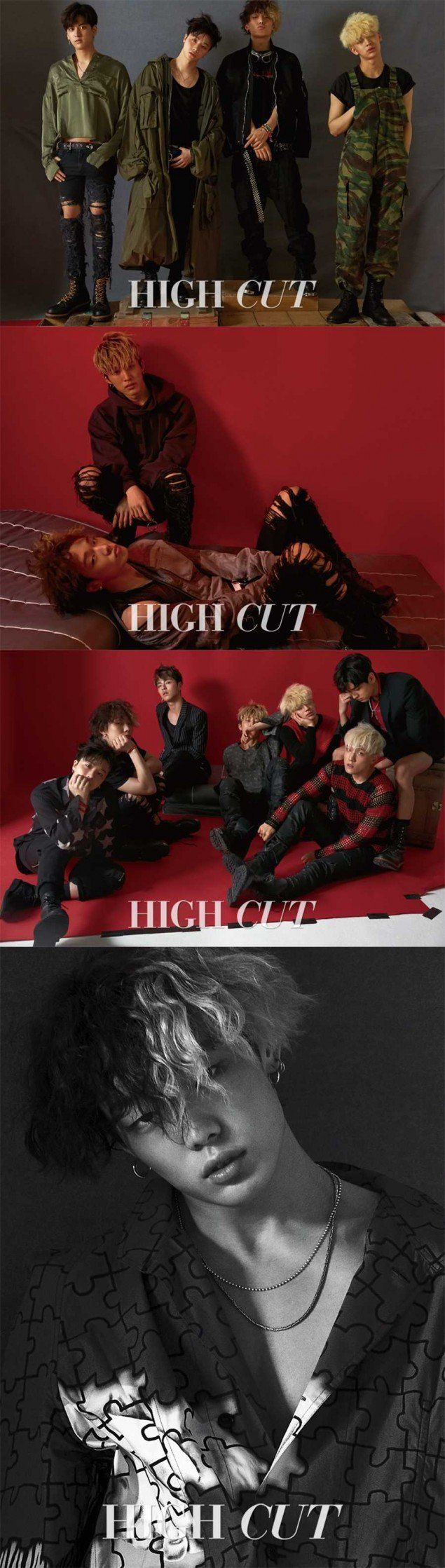 iKON see red on cover of 'High Cut' | allkpop.com