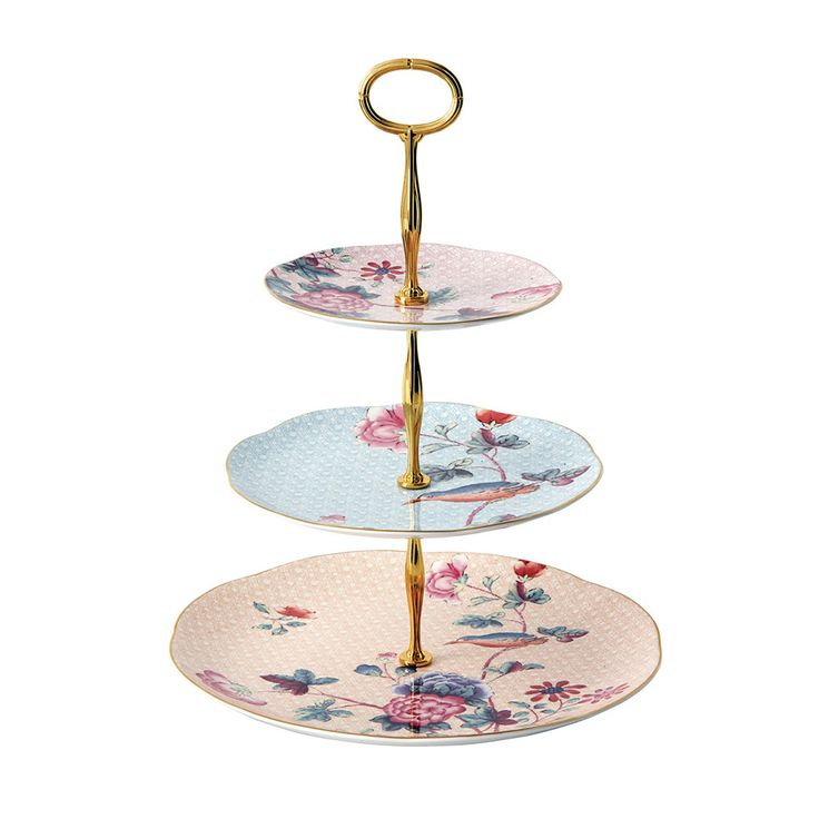 Discover the Wedgwood Cuckoo 3 Tier Cake Stand at Amara