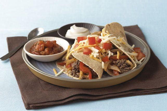 Tacos suaves de res con salsa BBQ Receta
