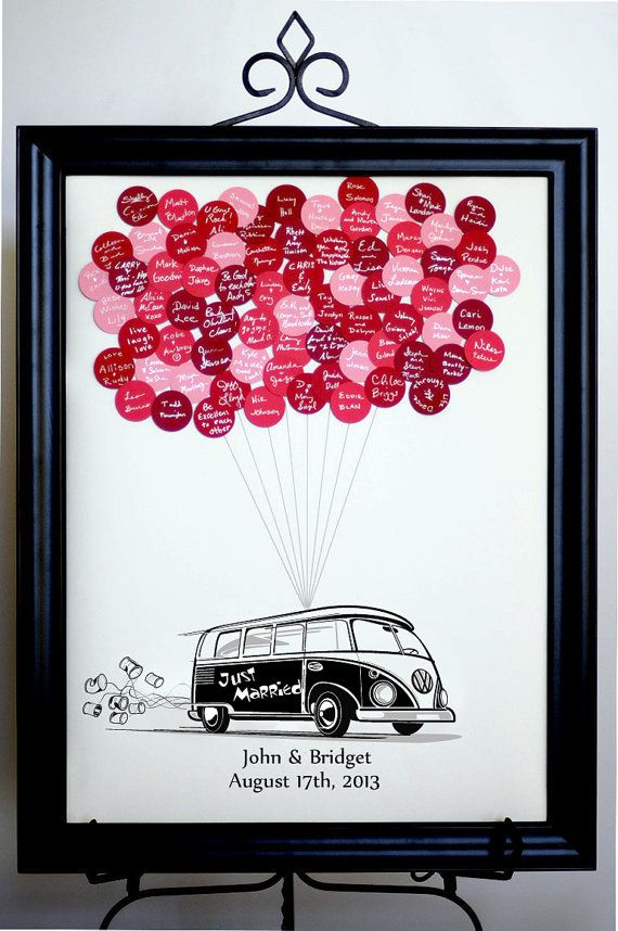 Wedding Guest Book Balloons VW Bus for up to by SayAnythingDesign