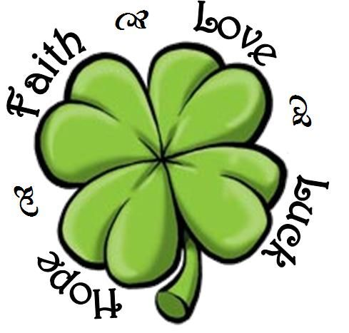 Pela lenda irlandesa esse são os significados das folhas do trevo... ;-)