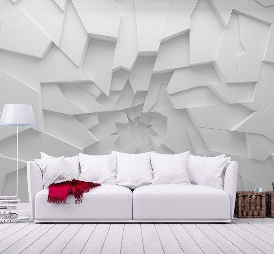 3d Wallpaper Designs For Walls With Led And Fluorescent Highlighting