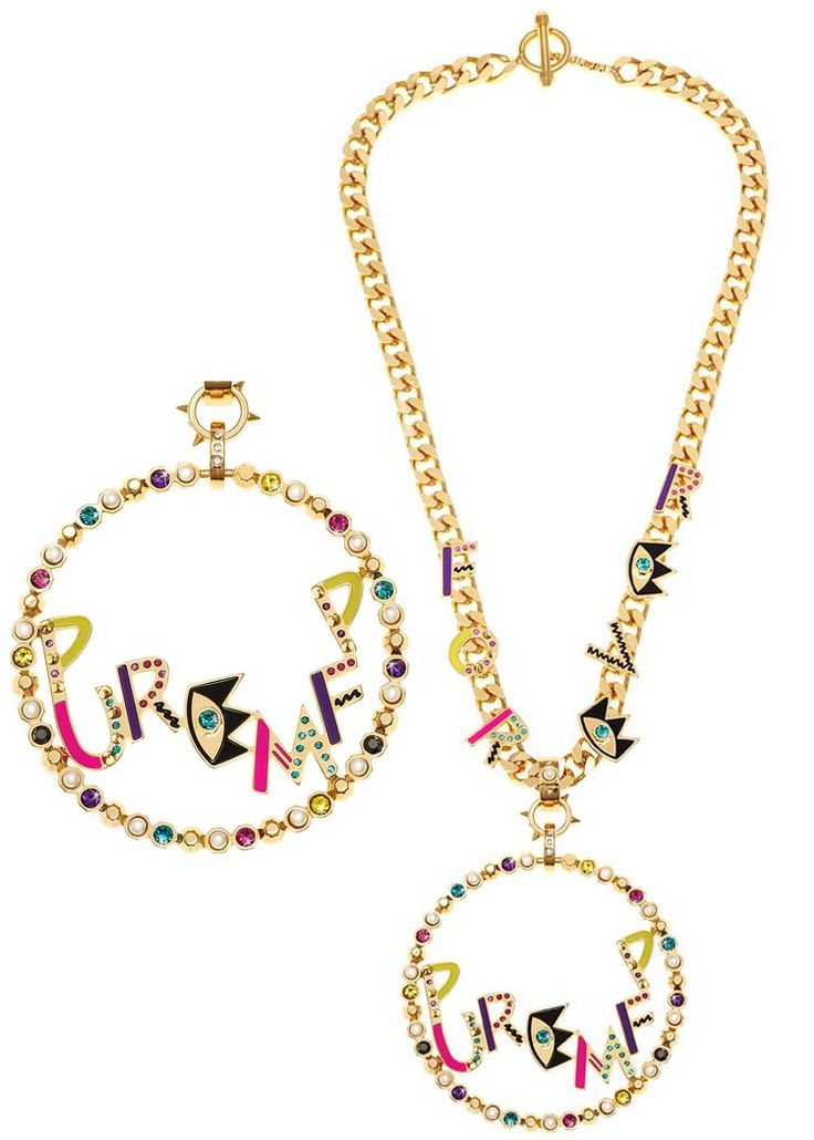 Maria Francesca Pepe Chunky chain forever necklace and pure MFP pendant Shop now> https://www.mariafrancescapepe.com/showplarge.aspx?prodid=766&catid=47&utm_source=Social&utm_medium=Pinterest&utm_campaign=Fw14_%20chain_forever