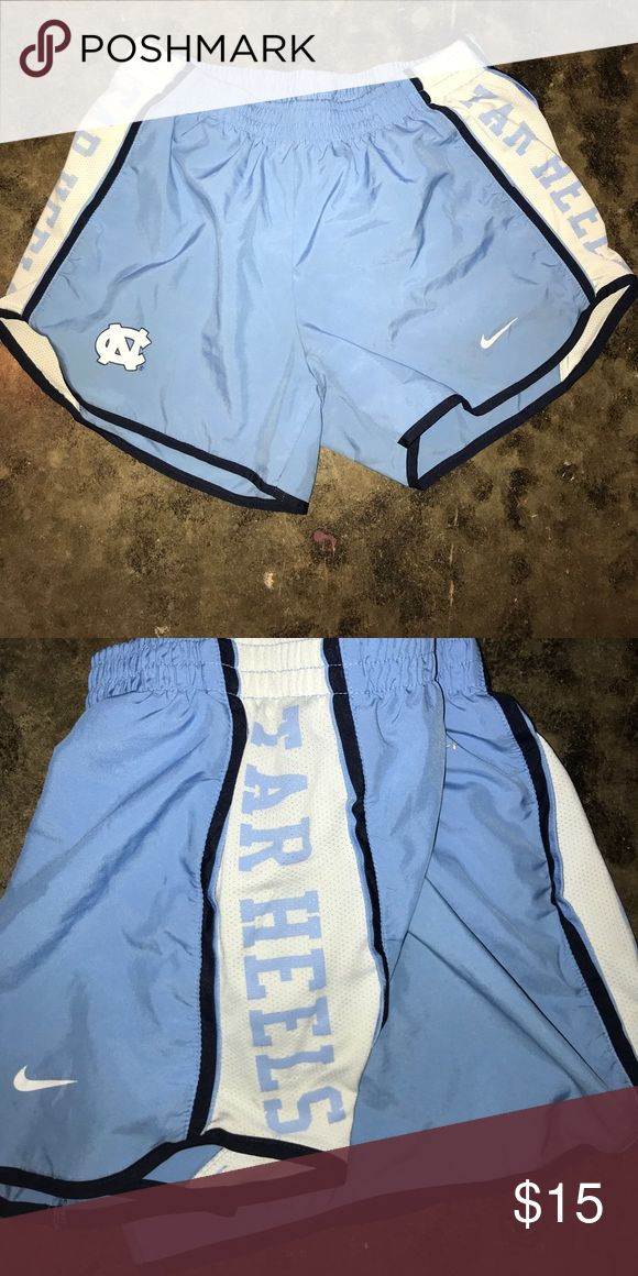 Nike dri fit UNC Chapel Hill shorts! UNC Chapel Hill Nike Dri Fit shorts! Purchased at University of North Carolina bookstore! In great condition, just grew out of them. Nike Shorts