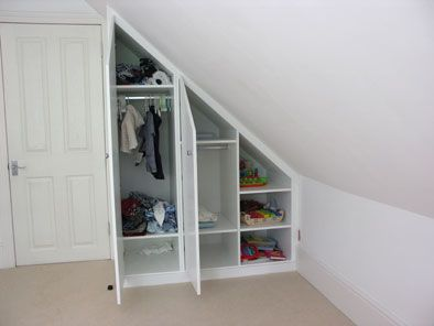 wardrobe in loft eaves