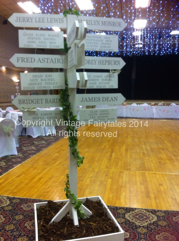Our custom made table plan now for hire! An original idea and creation from www.facebook.com/weddingsandeventsbycerys #vintage #vintagewedding #amazing #custom #ceryscloset #picketpost