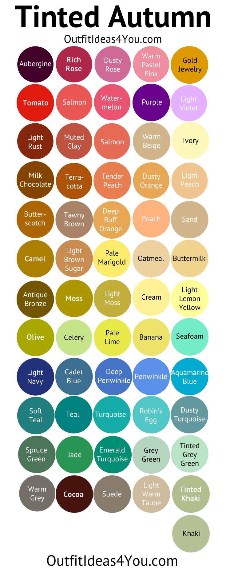 Tinted Autumn Color Palette (Soft Autumn Light)