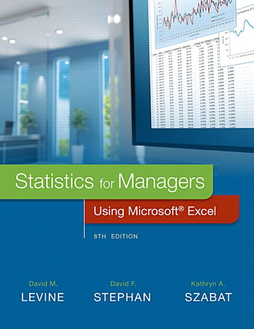 statistics for managers using microsoft excel 8th edition levine