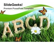 Abcd Letters Education PowerPoint Template 1010