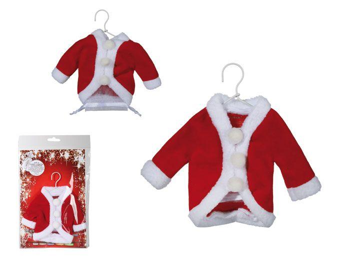 Kerstmanjasje als cadeauverpakking. Dit mini kerstmannenjasje is heel leuk als je geld cadeau wilt geven. In het jasje zit een organzazakje verstopt waar je geld in kunt stoppen. #kerstmis #cadeauverpakking