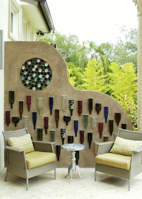 Stained Glass Of Miami Diy House Projects Bottle Wall