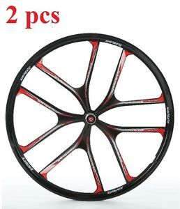 """2pcs Mtb 26 """"pulgadas magnesio Aleación De Titanio Para Bicicleta Ruedas Liviano"""