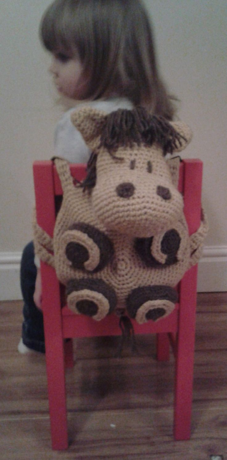 Horse Kid's Backpack Bag Amigurumi Pyjama Case Crochet PATTERN by Peach.Unicorn by PeachUnicornCrochet on Etsy https://www.etsy.com/listing/174757605/horse-kids-backpack-bag-amigurumi-pyjama