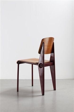 Chaise Cafétéria n° 300 démontable / Cafétéria no. 300 demountable chair par Jean Prouvé
