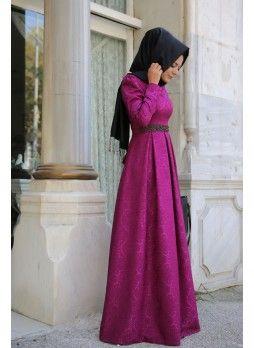 Açelya Fuşya Elbise