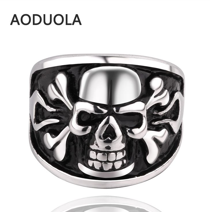 >> Click to Buy << Stainless Steel Skull Punk Ring Retro Vintage Biker Large Antique Black Tungsten Carbide Cheap Men's Rings For Seal men Rock men #Affiliate