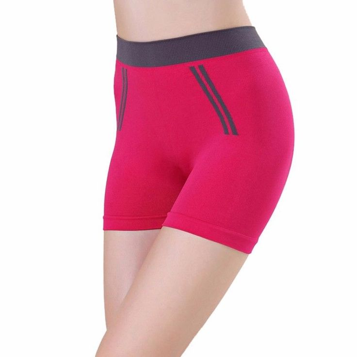 Womens Seamless Spandex Nylon Mid Rise Workout Gym Boy Shorts Yoga Pants Briefs #HHD #BriefsHiCuts #Everyday