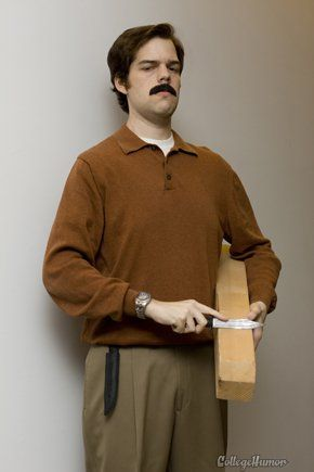 Last minute costume idea Ron Swanson