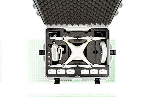 Nanuk 945-DJI7 945 Case with Foam Insert Designed for The DJI Phantom 3 (Graphite)