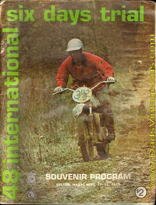 1973 48th International Six Days Trial ISDT, Dalton, Mass ...
