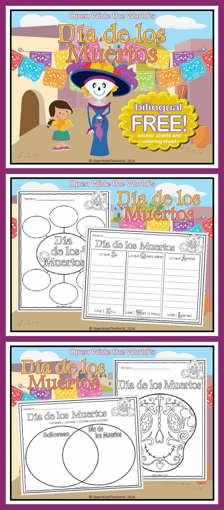 FREE Día de los Muertos anchor chart set, for use with any Día de los Muertos unit