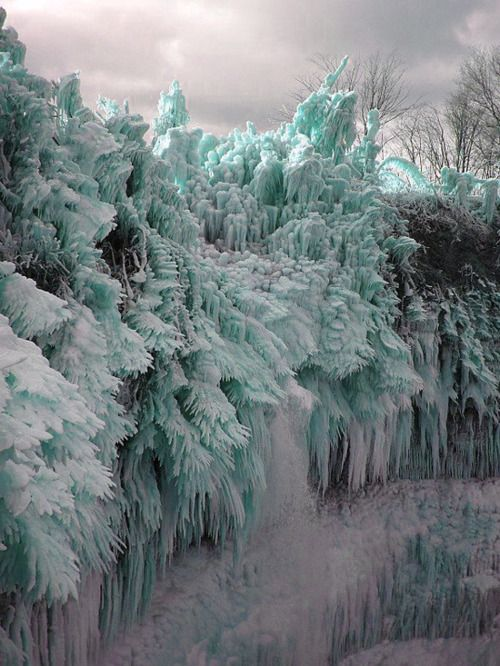 Ice Storm! Ontika Falls, near the city of Toila, Estonia |Pinned from PinTo for iPad|