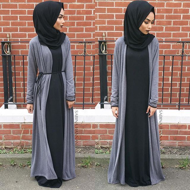 @moonboutik_ knitted jersey hijab ✖️ black knitted abaya ✖️grey cardi abaya✌️ In sha Allah I will be filming a eyebrow tutorial next so keep a look out for that. Make sure you subscribe to my YouTube channel the link is in the bio x