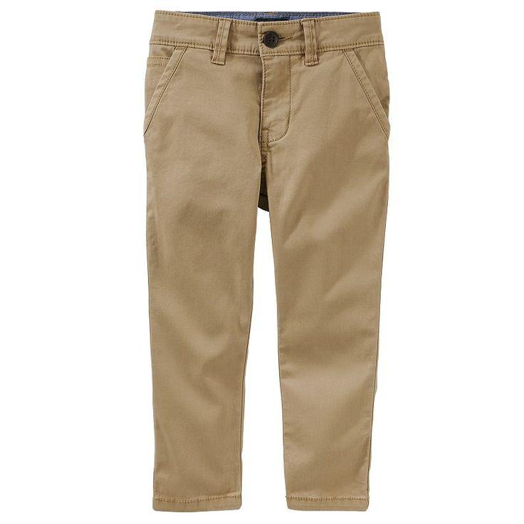 Boys 4-12 OshKosh B'gosh Slim Chino Pants, Brown