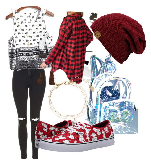 ѕ¢нσσℓ συтfιт♥️ by lollypopmy on Polyvore featuring polyvore, fashion, style, Topshop, Vans, Accessorize and Betsey Johnson