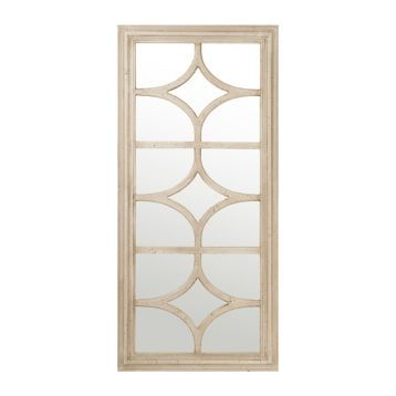 Stella Antique Cream Mirror, 28x59 | Kirklands