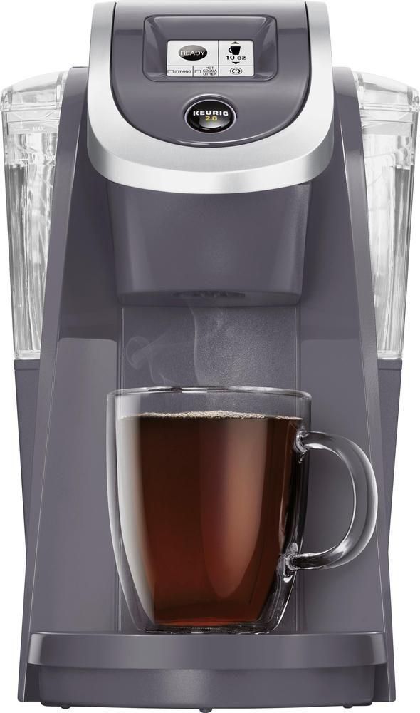 Keurig Keurig K200 Single Serve K Cup Pod Coffee Maker Plum Gray