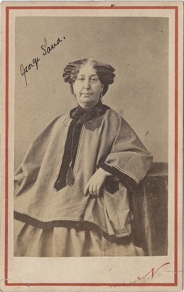 George Sand at 60 - CDV by Nadar by Photo_History... - the socrate club