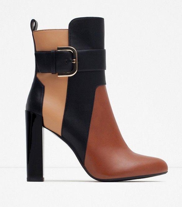 Zara Tricolor Booties