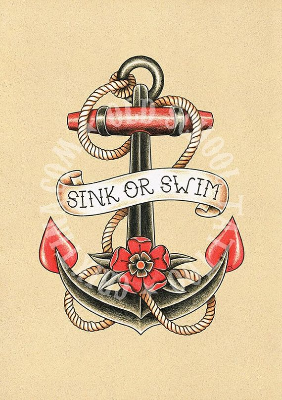T07. Tattoo illustrations. Anchor ship sea Flash por Retrocrix
