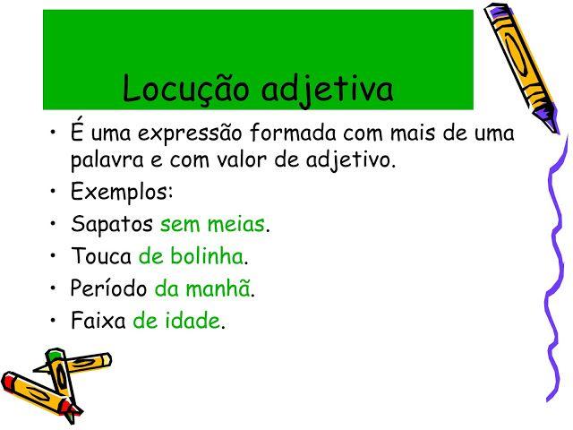 Pin De Angel Em Portugues Classes Gramaticais Locucao