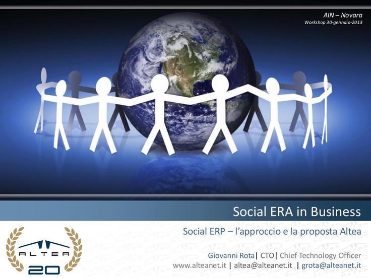@Social @ERP - Un modo più efficace per supportare i @processi aziendali