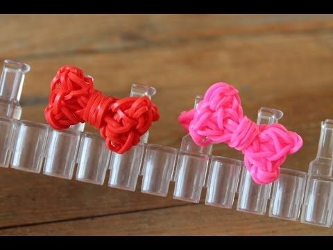 RAINBOW LOOM - SIMPLE RING WITH BOW / BAGUE AVEC PT NOEUD / RING MET STRIKJE (**not in english**) - IN NEDERLANDS