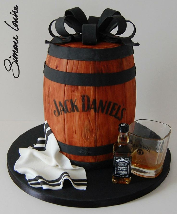Jack Daniels barrel cake ♥                                                                                                                                                      More
