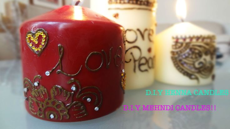 D.I.Y Henna Candles home decorations or gifts || Raji Osahn